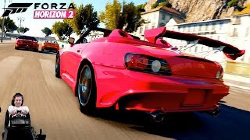 Сумасшедшая фул тюненая Honda S2000 Fast Furious Edition - Forza Horizon 2 на руле Logitech G920
