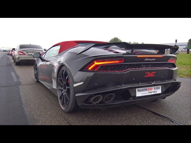 Lamborghini Huracan Spyder w LEVELLA X Pipe Exhaust REVS DRAG RACING