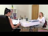 Alexis (Emilia) &amp Vanessa (Anna Rose) - Czech babe licks agent's pussy Female Agent