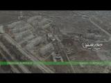 Масарания, вид с дрона. Вдали аэропорт Алеппо