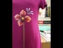 Váy vẽ tay hoa tiết hoa