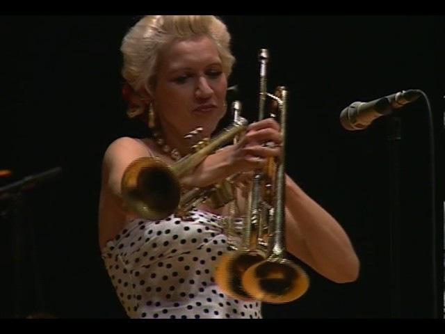 Happy New year Gunhild Carling plays three trumpets