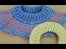Двойная резинка 2х2 Имитация пришивной планки