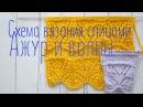 Схема вязания спицами ажурный и волнистый узор