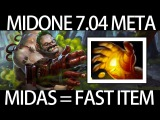7.04 META Pudge Midas = Fast Item Gameplay by MidOne Dota 2 9K MMR Pro Player