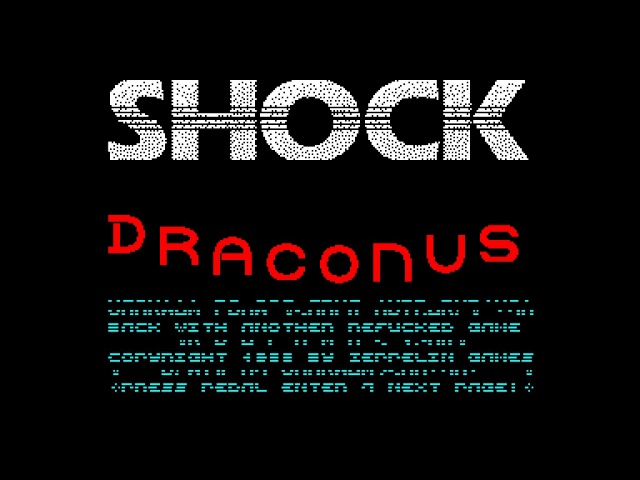 Draconus Crack Intro - Shock Brigade [zx spectrum]