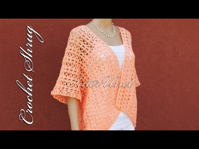 Crochet loose fitting shrug for all sizes great project to learn how to crochet