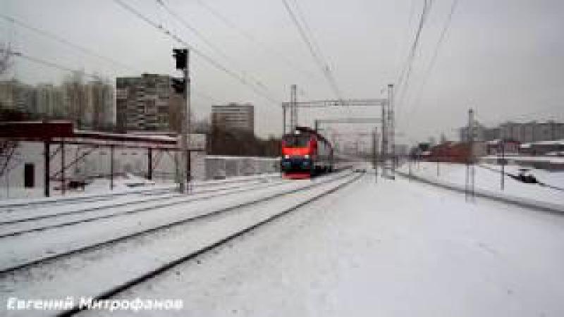 Электровоз ЭП20-052 (ТЧЭ-33) со скоростным поездом №013М Стриж/Strizh, Москва - Берлин.