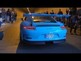 Supercars Accelerating into Tunnel LOUD! Huracan, GT3RS, M5, GT-R..