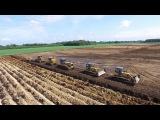 Tiefpflügen EXTREM deep plowing Dozer 5 Raupen ziehen 2,40m TIEF! Komatsu ploughing Awesome HD