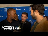 'Avengers Infinity War' At D23 Anthony Mackie's Hilarious' Red Carpet Interplay With Tom Holland