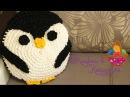 Подушка Пингвин из трикотажной пряжи KVK