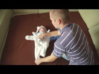 Пока мамы нет дома, папа не скучает с малышом :)