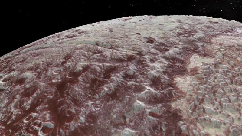 Первые кадры Земли Ктулху и хребта Тартара на Плутоне