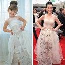 Мама шьет для любимой дочки платья как у звезд