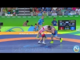 РИО-2016 греко-римская борьба 85 кг 1_8 финала Рустам Ассакалов (Узбекистан) - Бенджамин Провайзор (США)