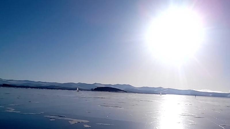 мыс Уюга, буерная школа Зурбаган на льду