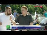 Корреспондента НТВ избили у фонтана на празднике ВДВ