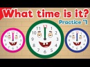Learn to Tell Time 1 Telling the Time Practice for Children What's the Time Fun Kids English