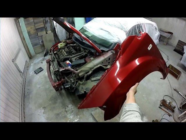 Dodge Caliber часть 12 Как снять бампер фары крылья Body repair