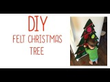 VLOGMAS DAY 2 | DIY Felt Christmas Tree (toddler craft)