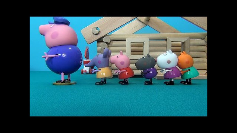 Peppa Pig in English. Peppa and her friends visit Grandpa Pig. Peppa Pig builds the house