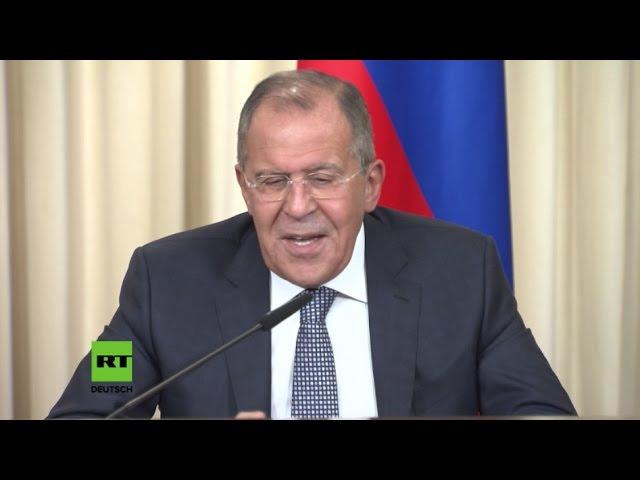 Lawrow kann sich das Lachen nicht verkneifen - Deutschland erwägt Russland-Sanktionen wegen Syrien