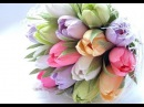 How to make paper tulip flower Hướng dẫn làm hoa tulip giấy nhún