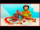 Пожарные Машинки и Пожарная станция для детей Видео про Машинки и мальчика Пожарного Даника