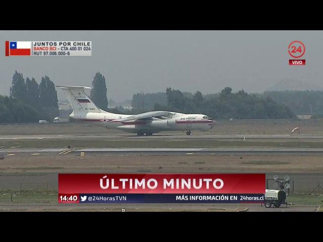 RA-76841 Ilyushin Il-76TD Realizando su primer despegue desde SCL para combatir incendios forestales