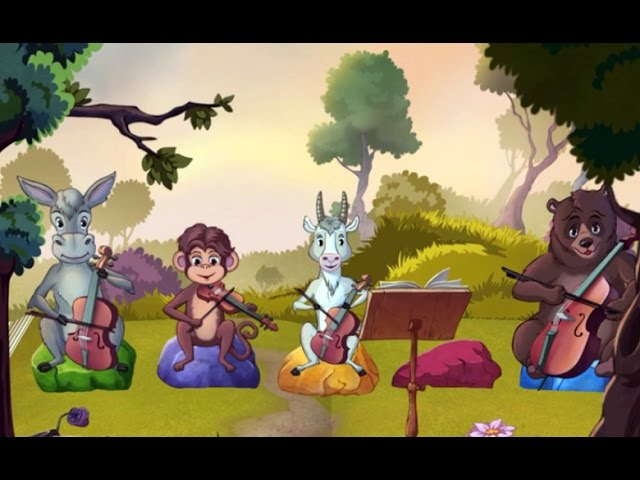 Квартет - Басня Крылова Для Детей На Ночь ♦ сказка