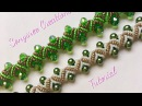 DIY pearl bracelet zigzag embellishments Very clear Tutorial