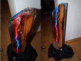 neo Woodstock Lichtskulptur light sculpture resin ToSaLignea