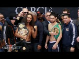 Keith Thurman vs. Danny Garcia COMPLETE WEIGH IN &amp FACE OFF video