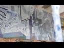 Обследование мозаики на автовокзале