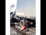Трасса М-4 «Дон» (Каменск-Шахтинский), где проводятся ремонтные работы, произошло ДТП с участием шести автомобилей: трех грузовы