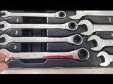 RoninTools Набор комбинированных гаечных ключей реверсного типа с пожизненой гар