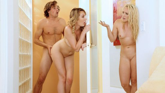 ShareMyBF – AJ Applegate, Brett Rossi – Busted Lesbians Share Boyfriend's Dick