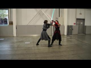 ИгроМир 2016. Star Wars. Бой на лазерных мечах.