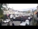 Muslimische Burka Frauen marschieren in Bradford!