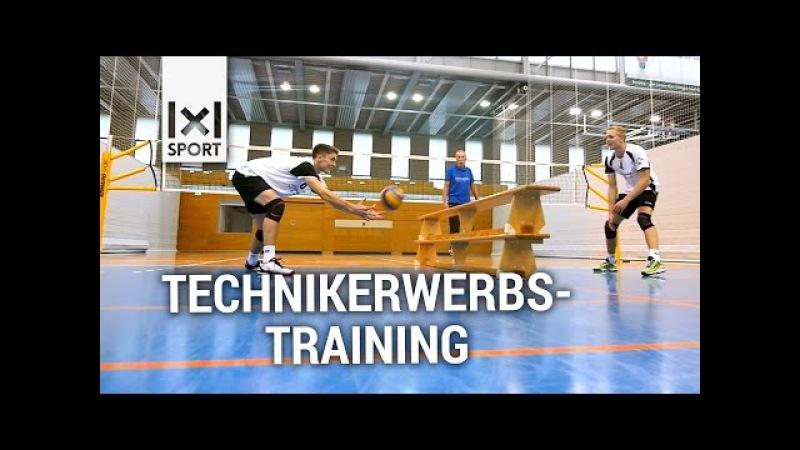Spaß beim Volleyball Technikerwerbstraining Übung vom Bayerischen Volleyball-Verband