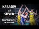 Alexey Shved (31 pts, 7 ast) vs Sergey Karasev (21 pts, 5ast) First Playoffs Showdown
