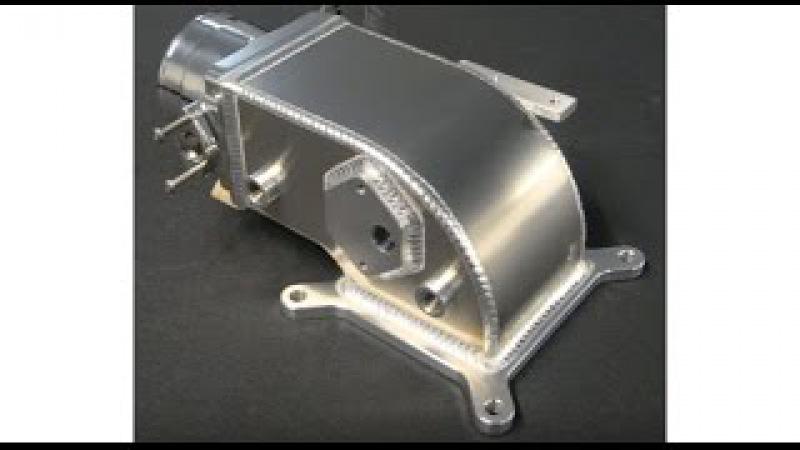 TIG welding aluminum fabrication intake elbow 2 www.6061.com 4.6 Mustang