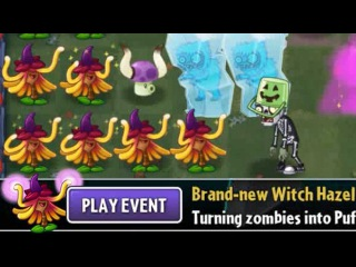 Plants vs Zombies 2 - Lawn of Doom #3 Witch Hazel Event Halloween Party 10/20/2016 (October 20th)