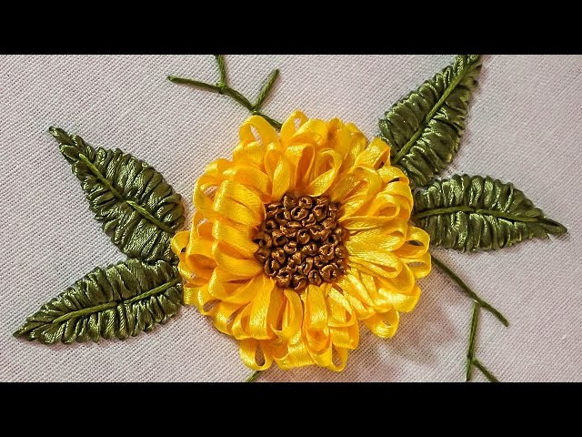 Embroidery Designs | DIY Ribbon Flower | HandiWorks 71