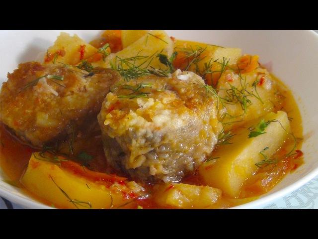 Рагу с рыбой и овощами- очень вкусно и сытно (Stew with fish and vegetables)