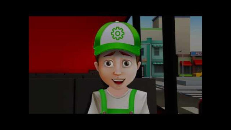 Пожар на мосту Хочу все знать Винтик мультик про машинки развивающий мультфильм