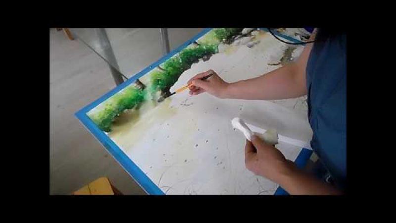 Watercolor Painting Demonstration by Rukiye Garip