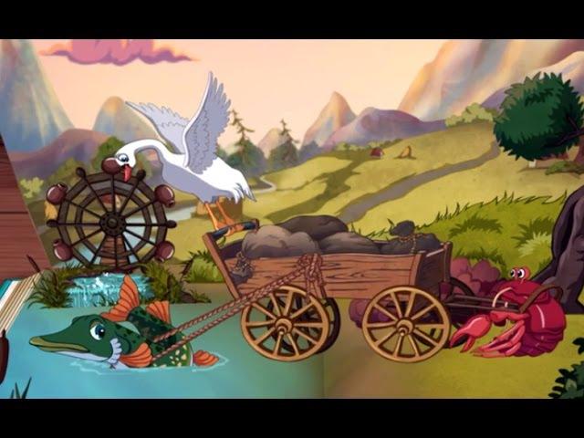 Лебедь, Щука И Рак - Басня Крылова Для Детей На Ночь ♦ сказка