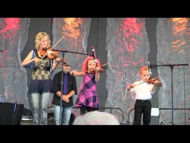Natalie MacMaster and her kids, 2013 Dublin Irish Festival